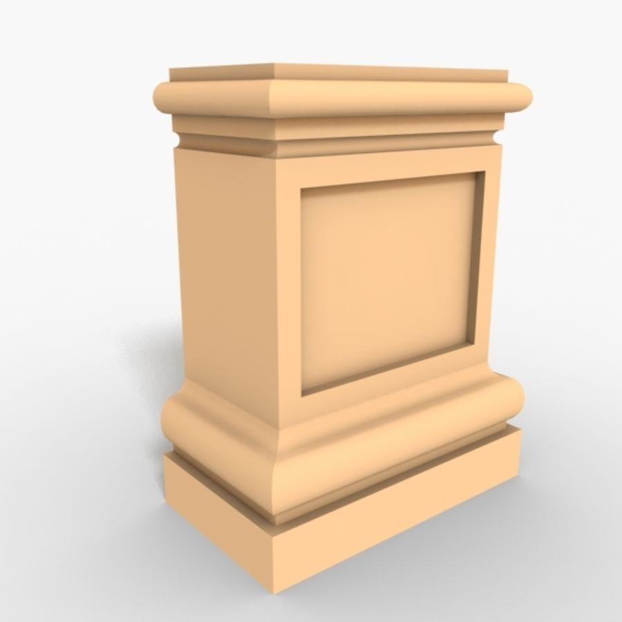 Plinth Block 003 royalty-free 3d model - Preview no. 1