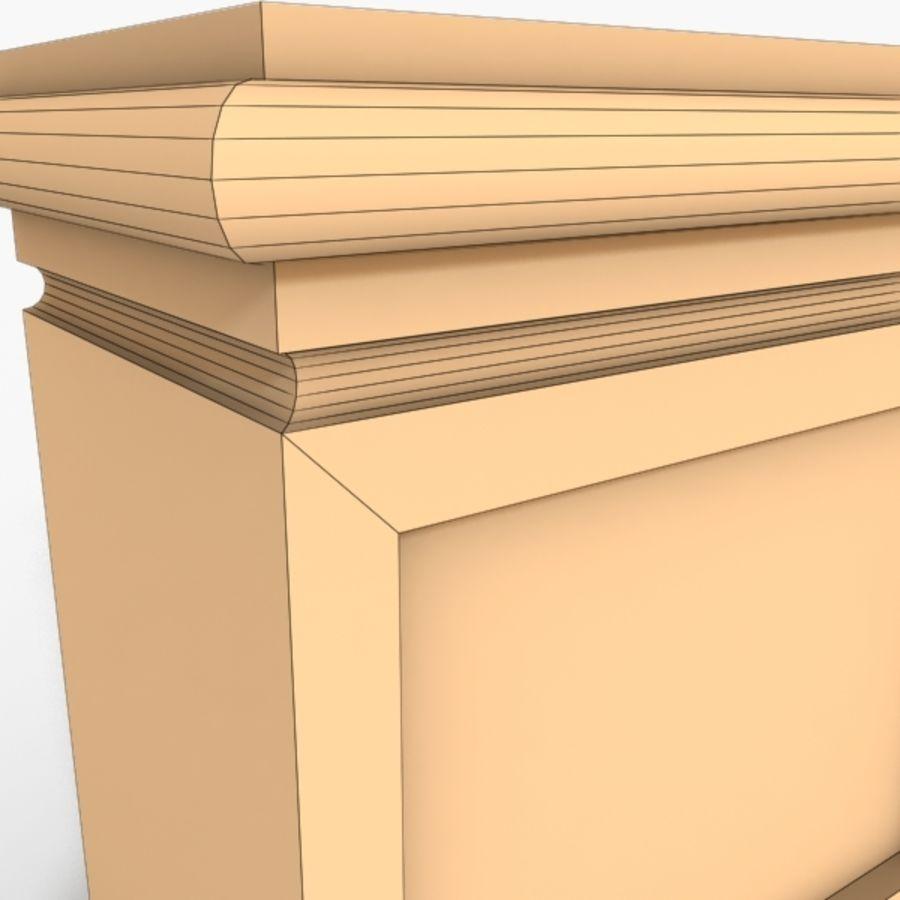 Plinth Block 003 royalty-free 3d model - Preview no. 6