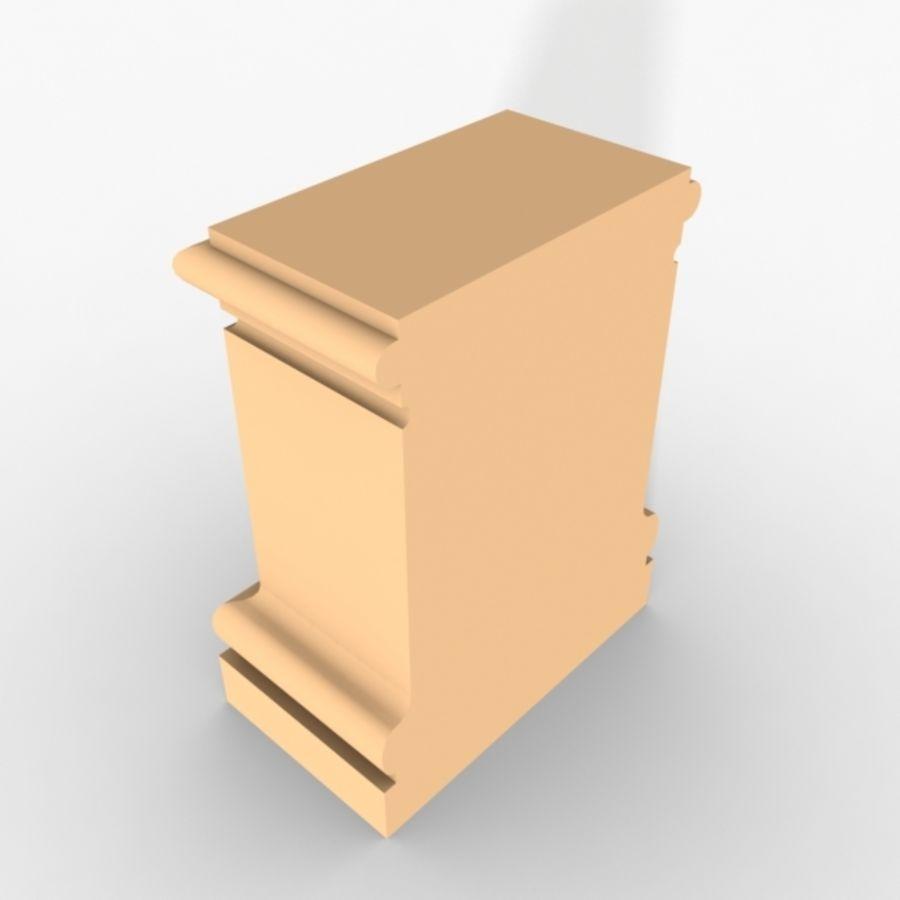Plinth Block 003 royalty-free 3d model - Preview no. 3