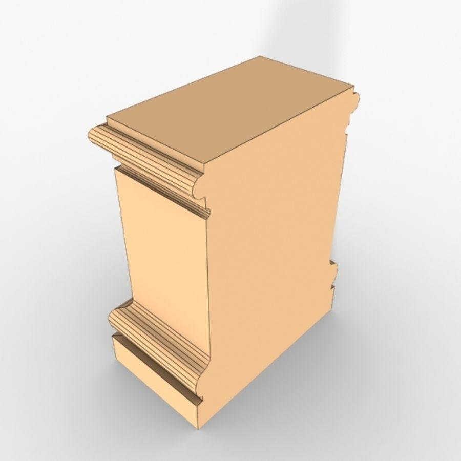 Plinth Block 003 royalty-free 3d model - Preview no. 4