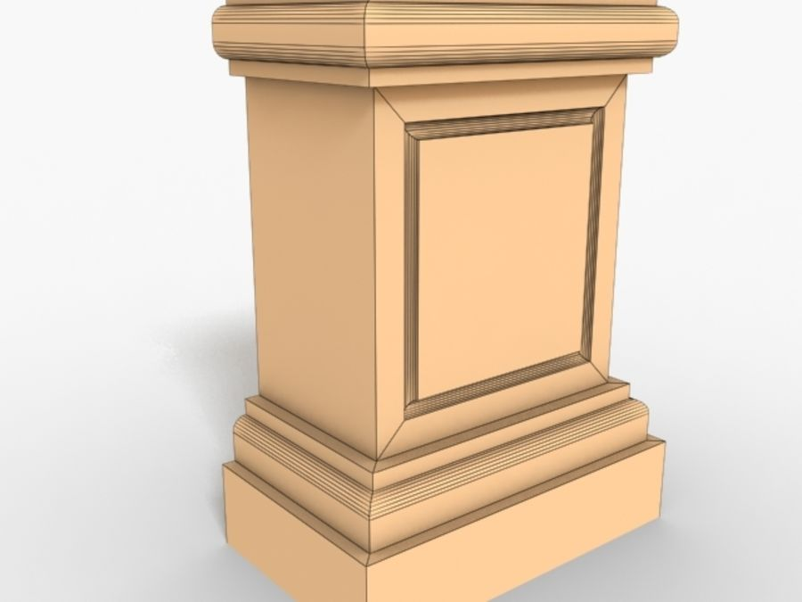Plinth Block 005 royalty-free 3d model - Preview no. 2