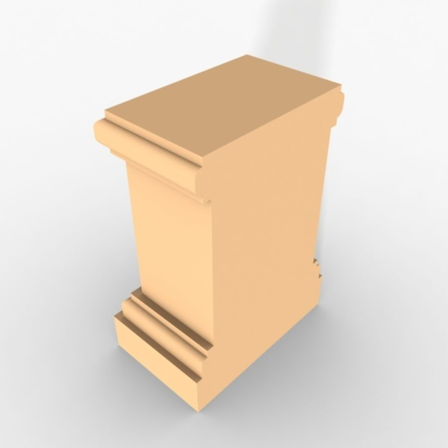 Plinth Block 005 royalty-free 3d model - Preview no. 5
