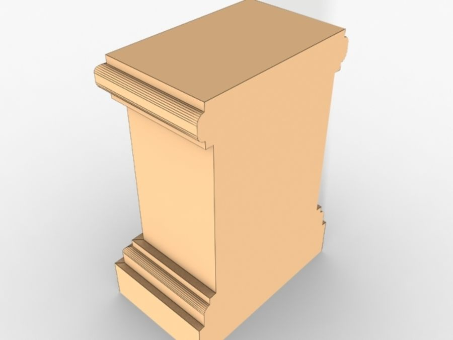 Plinth Block 005 royalty-free 3d model - Preview no. 6