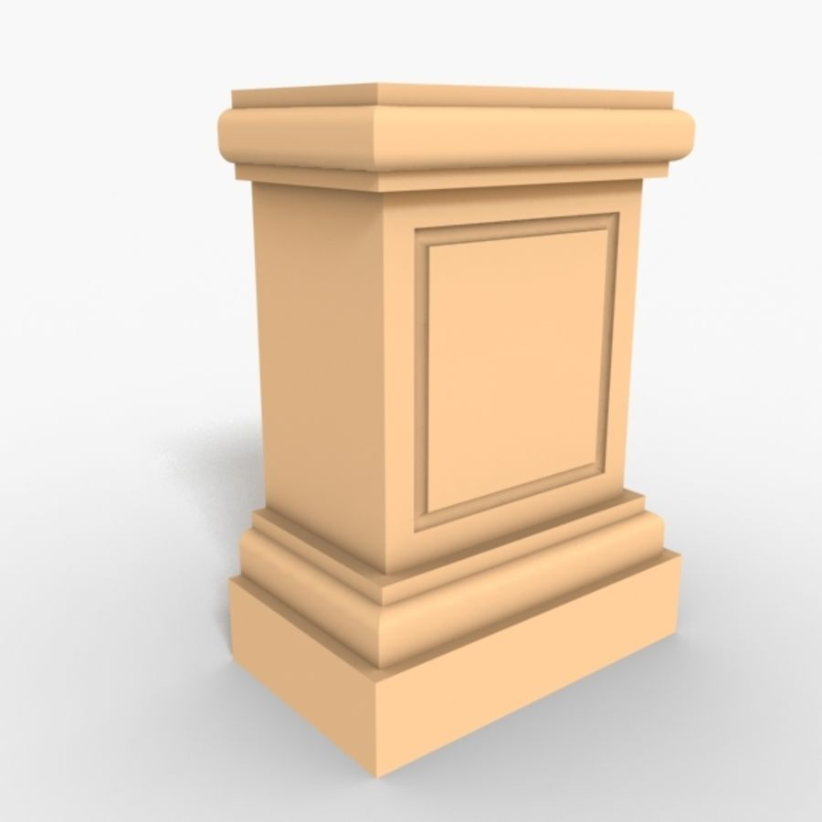 Plinth Block 005 royalty-free 3d model - Preview no. 1