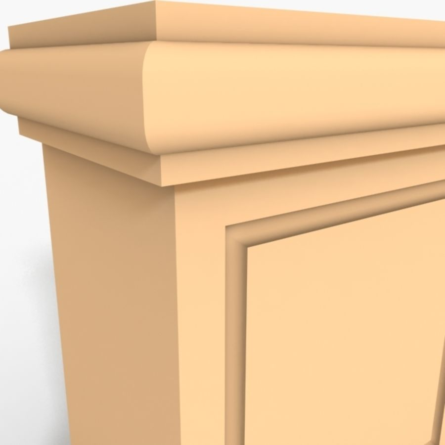 Plinth Block 005 royalty-free 3d model - Preview no. 3