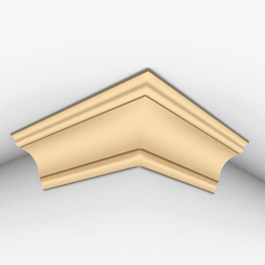 Cornice Molding 002 royalty-free 3d model - Preview no. 3
