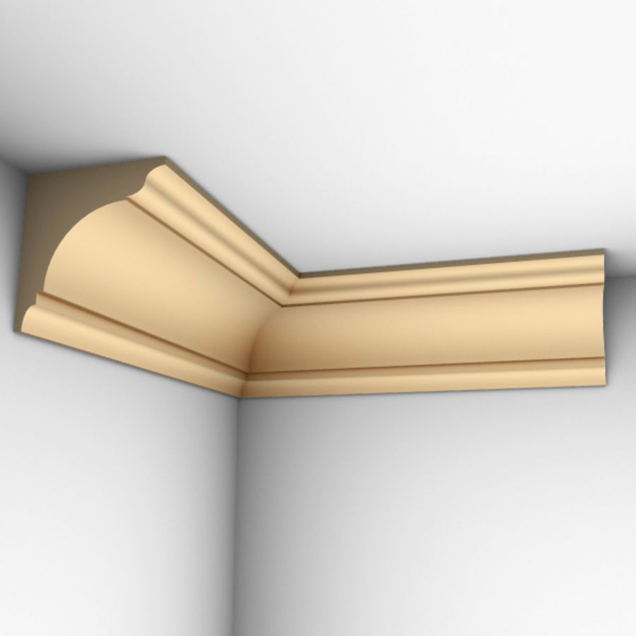 Cornice Molding 002 royalty-free 3d model - Preview no. 2