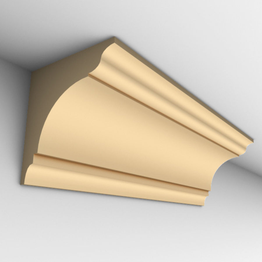 Cornice Molding 002 royalty-free 3d model - Preview no. 1