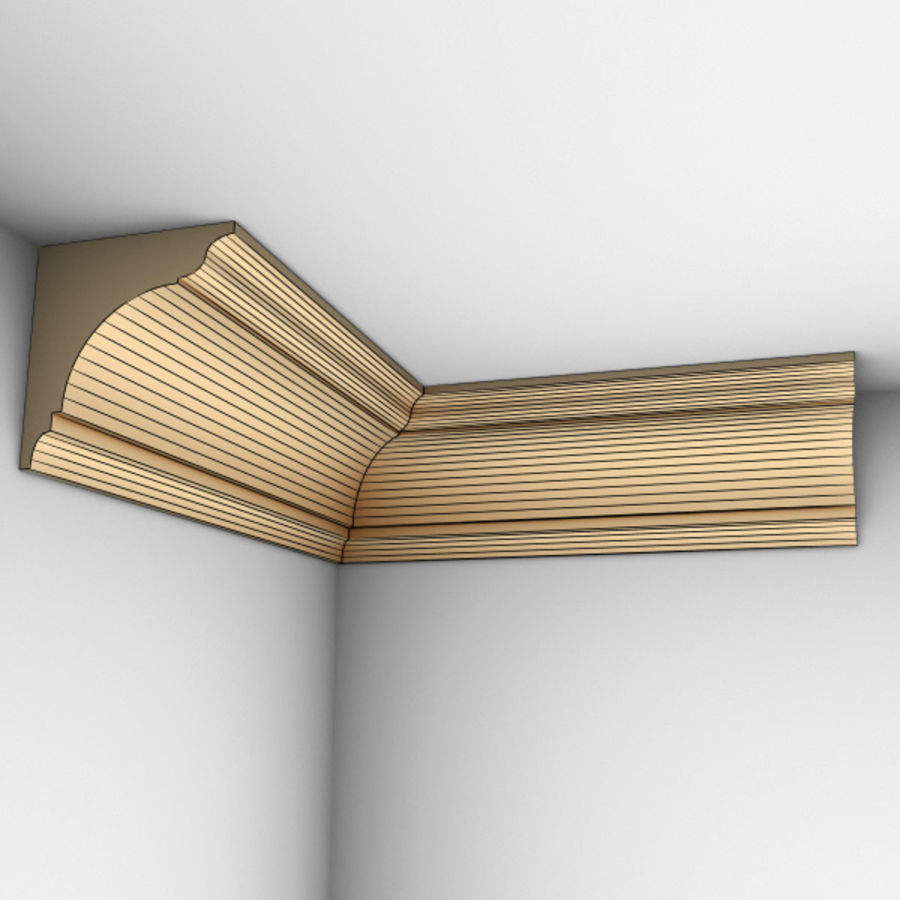 Cornice Molding 002 royalty-free 3d model - Preview no. 5