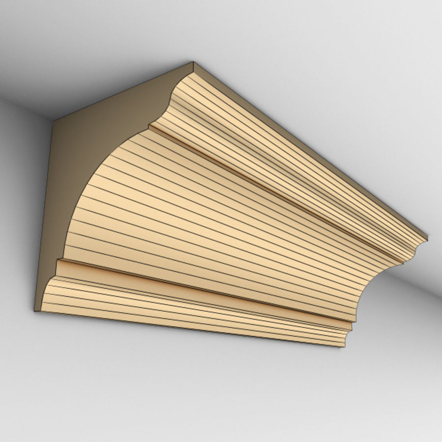 Cornice Molding 002 royalty-free 3d model - Preview no. 4