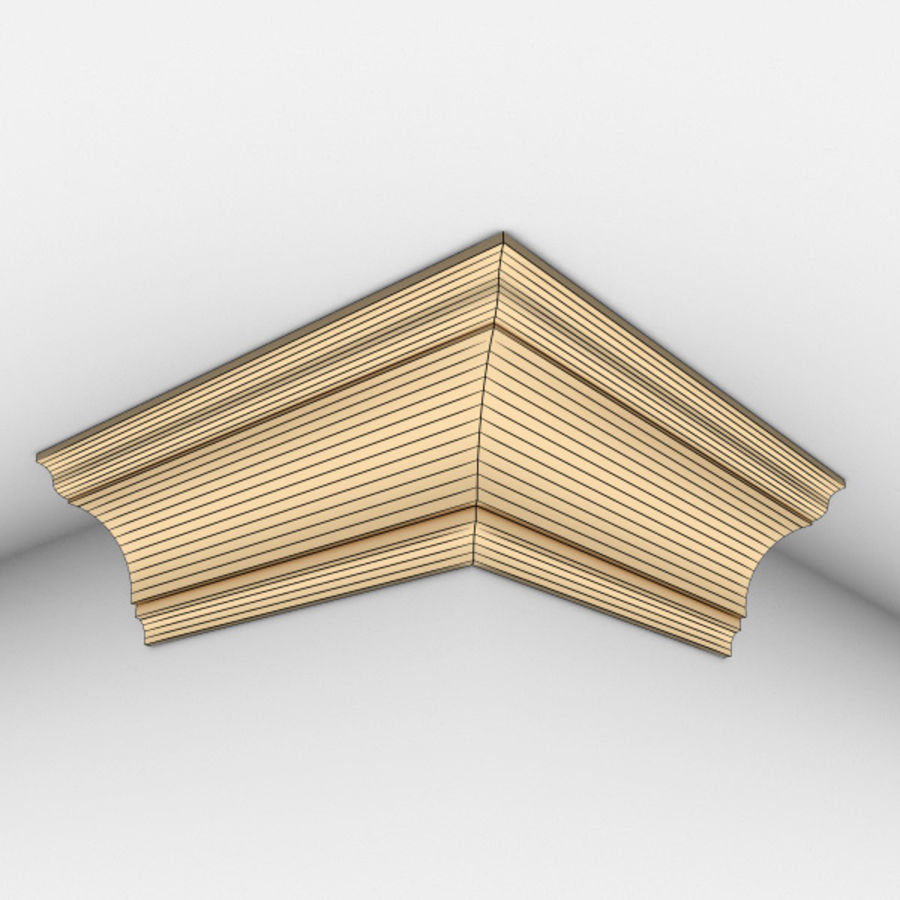Cornice Molding 002 royalty-free 3d model - Preview no. 6