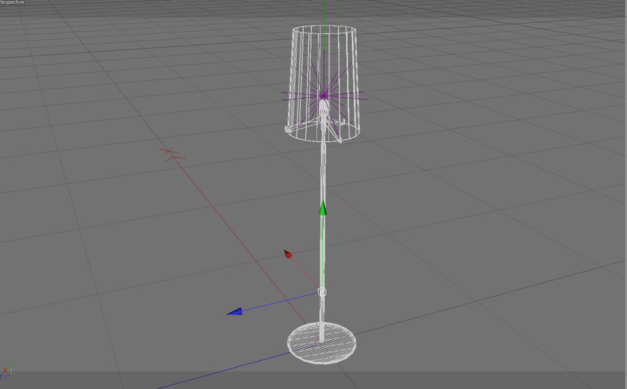 Floor Lamp royalty-free 3d model - Preview no. 8