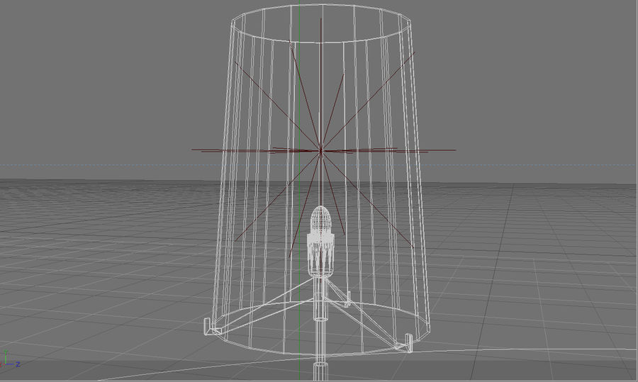 Floor Lamp royalty-free 3d model - Preview no. 7