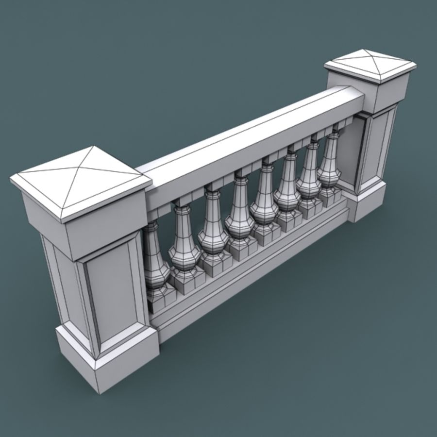 balustrade 002_li08p royalty-free 3d model - Preview no. 3