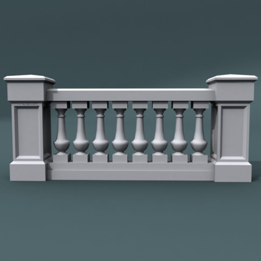 balustrade 002_li08p royalty-free 3d model - Preview no. 1