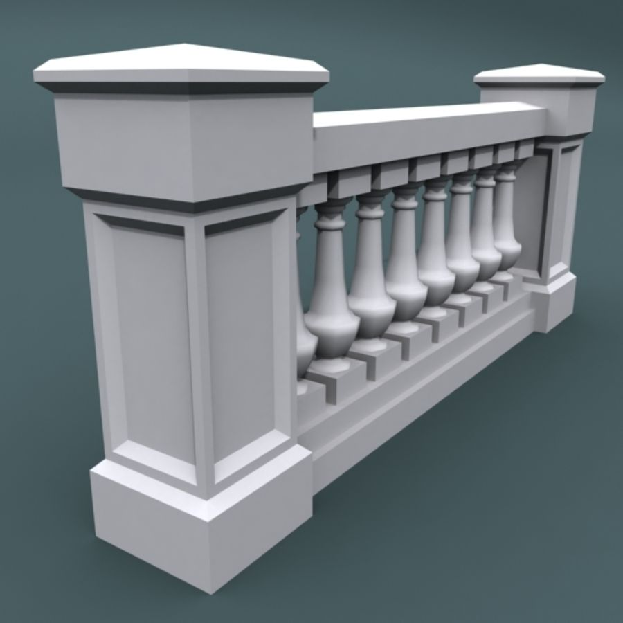 balustrade 002_li08p royalty-free 3d model - Preview no. 4