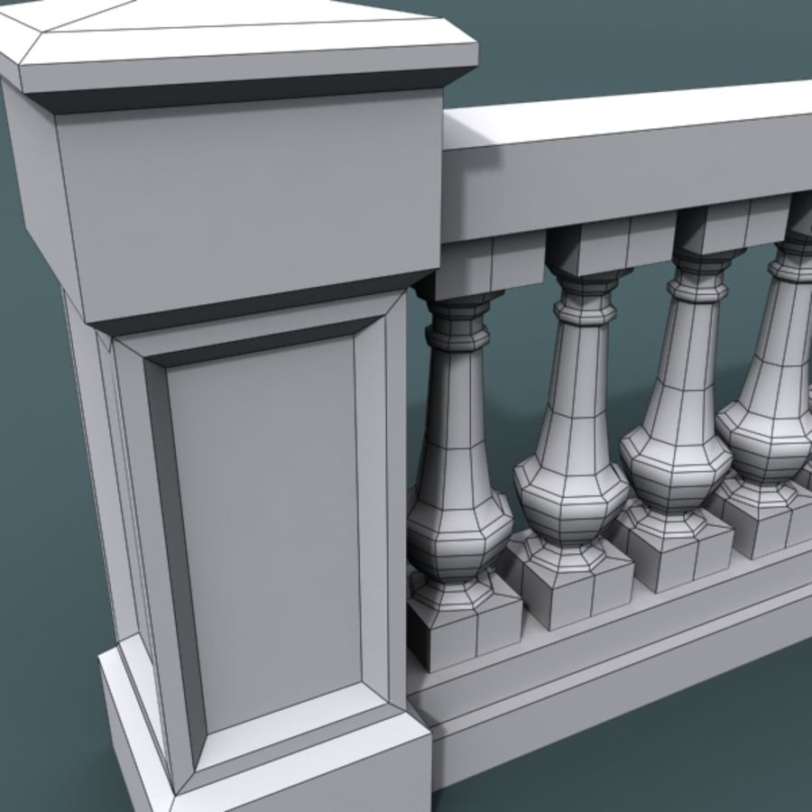 balustrade 002_li08p royalty-free 3d model - Preview no. 6