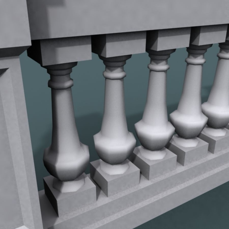 balustrade 002_li08p royalty-free 3d model - Preview no. 7