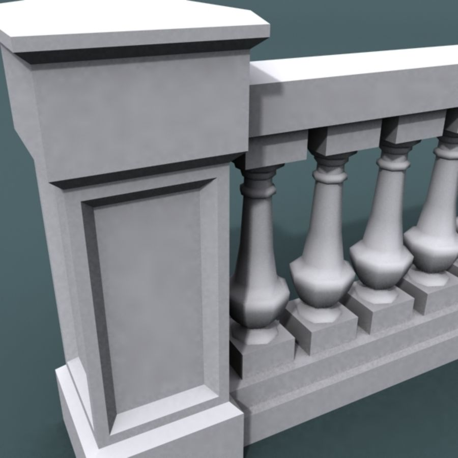 balustrade 002_li08p royalty-free 3d model - Preview no. 5
