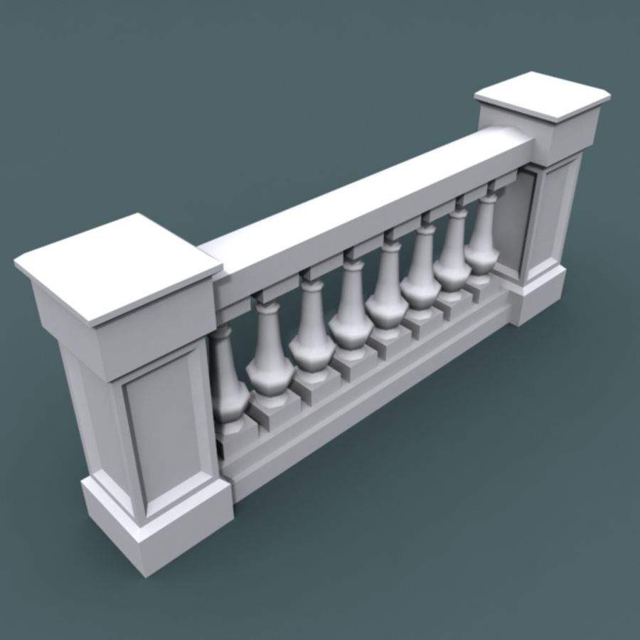 balustrade 002_li08p royalty-free 3d model - Preview no. 2