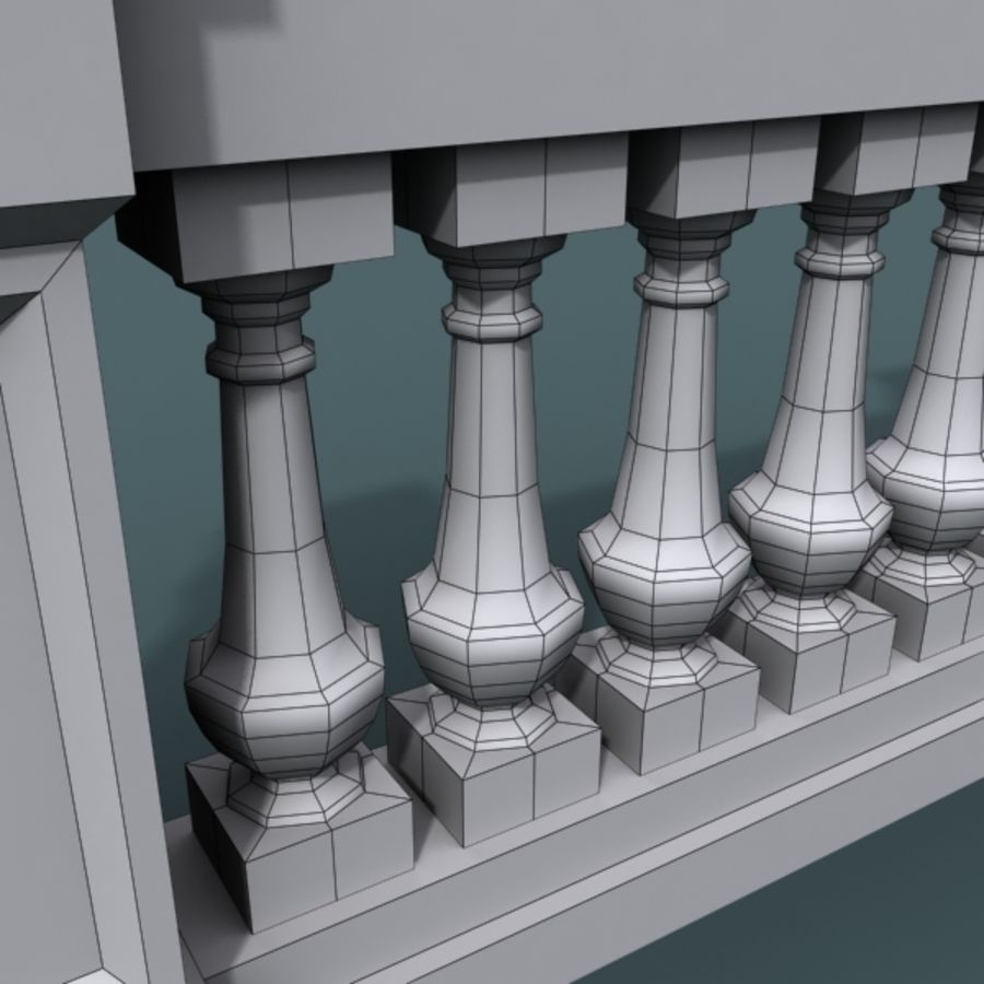 balustrade 002_li08p royalty-free 3d model - Preview no. 8