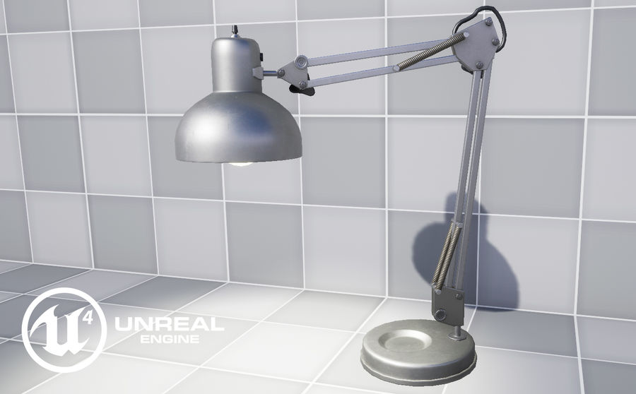 Настольная лампа 01 royalty-free 3d model - Preview no. 16