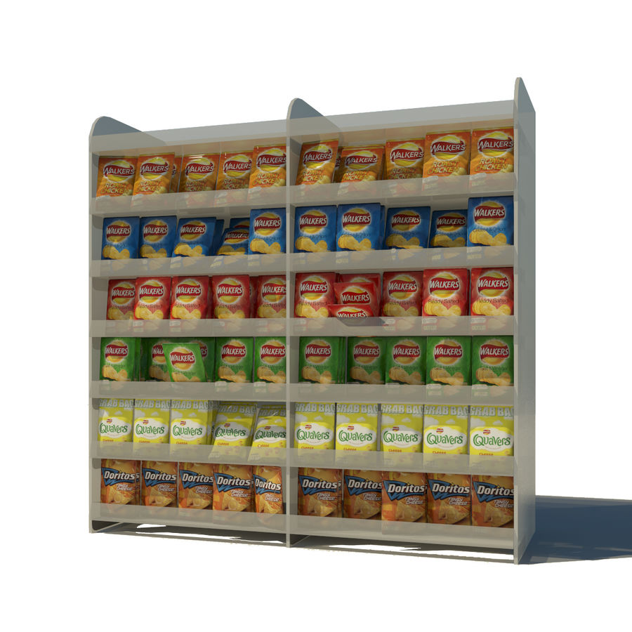 Crisps Display royalty-free 3d model - Preview no. 1