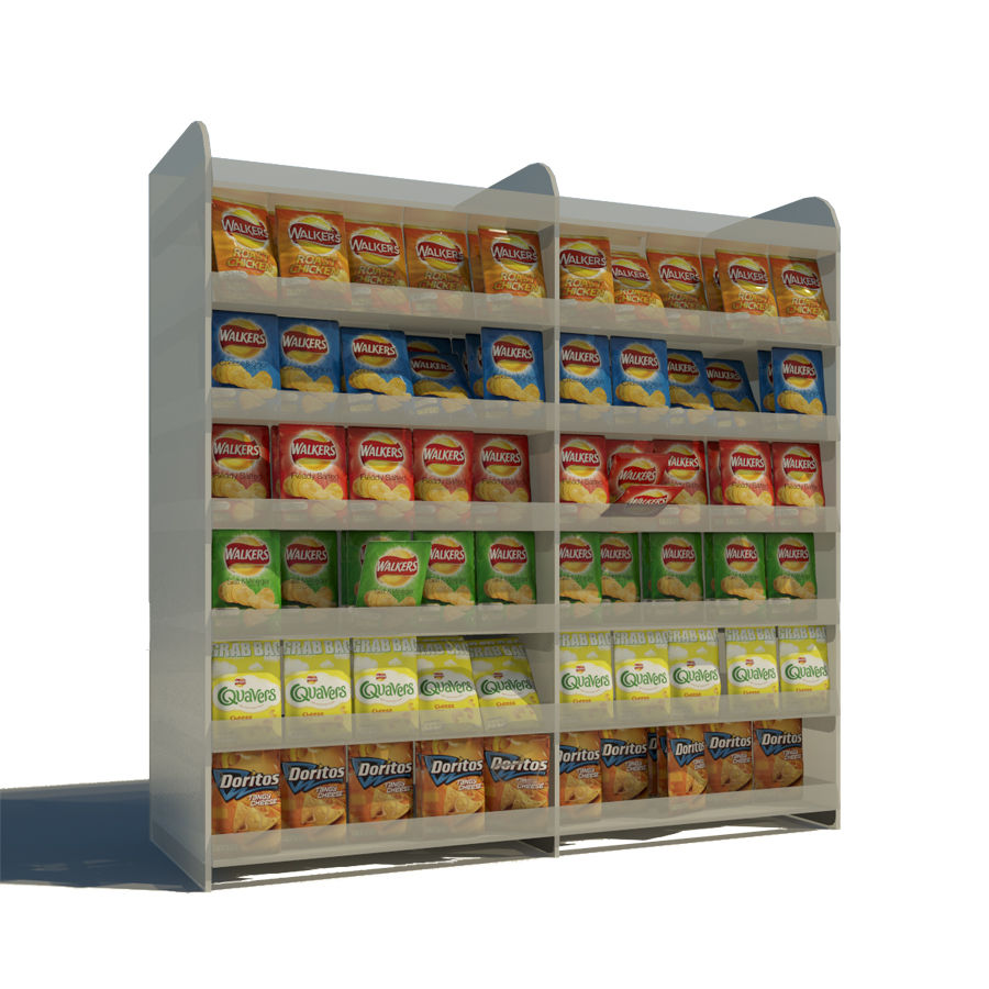 Crisps Display royalty-free 3d model - Preview no. 2