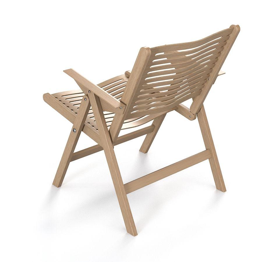 Stupendous Rex Folding Lounge Chair 3D Model 24 Obj Fbx 3Ds Max Theyellowbook Wood Chair Design Ideas Theyellowbookinfo
