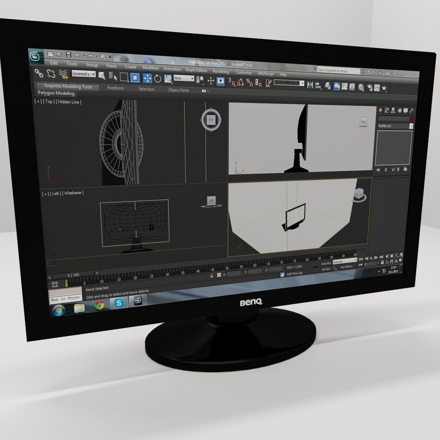 Computer screen royalty-free 3d model - Preview no. 1