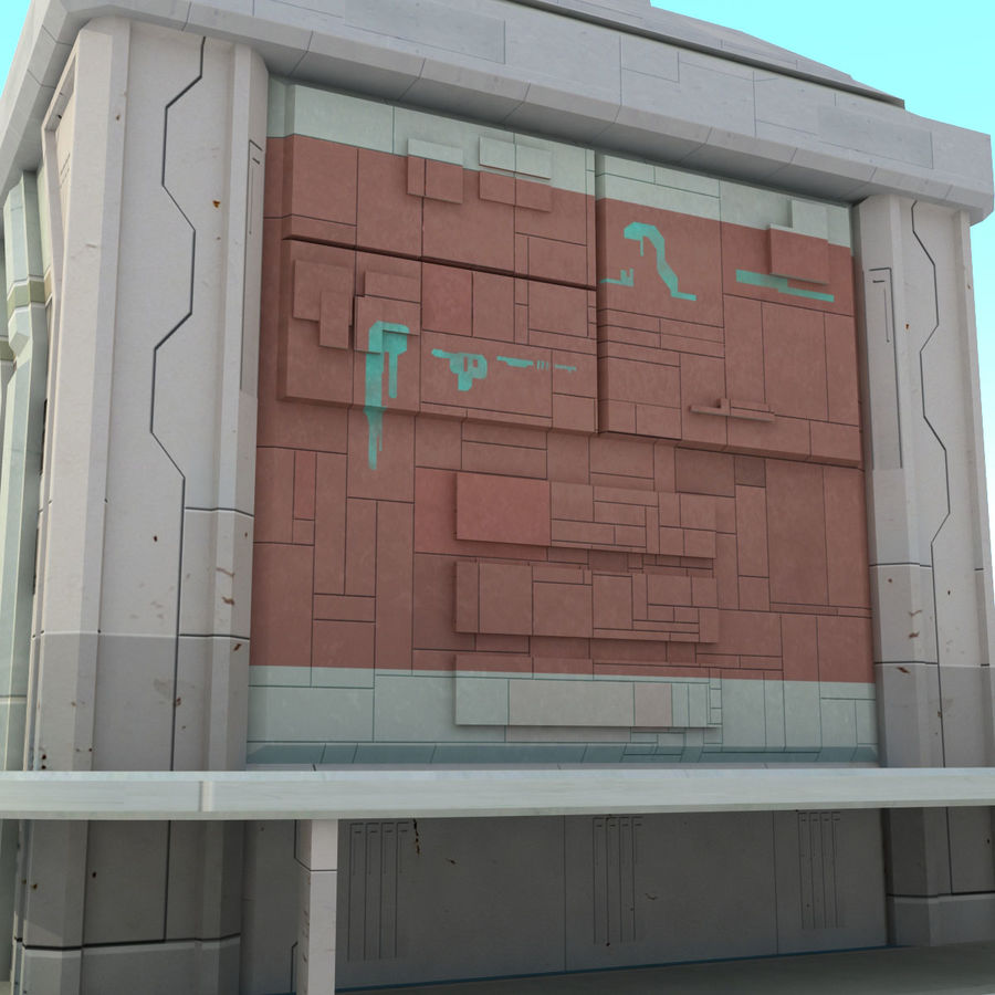 Sci Fi Building Futuristic royalty-free 3d model - Preview no. 7