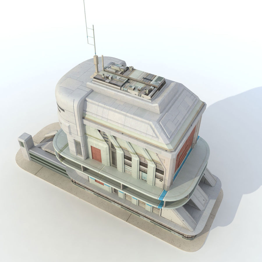 Sci Fi Building Futuristic royalty-free 3d model - Preview no. 5