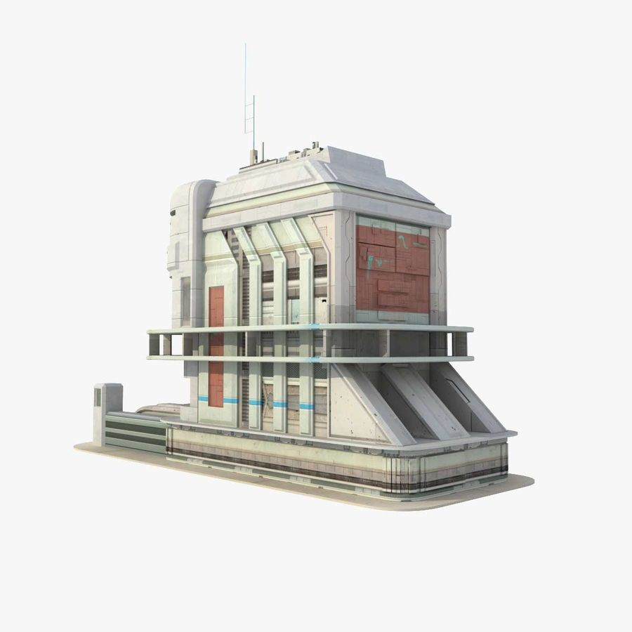 Sci Fi Building Futuristic royalty-free 3d model - Preview no. 1