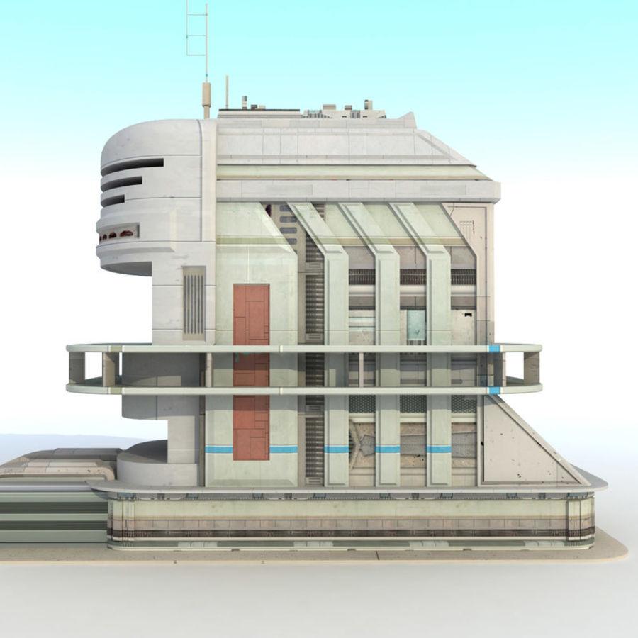 Sci Fi Building Futuristic royalty-free 3d model - Preview no. 6