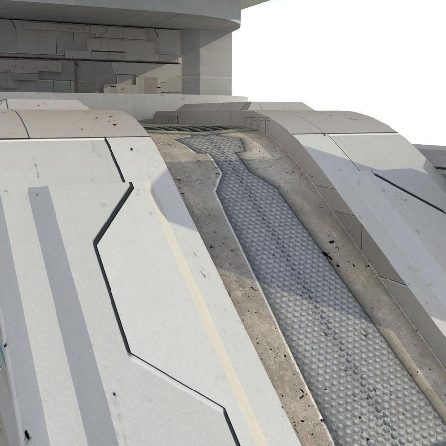Sci Fi Building Futuristic royalty-free 3d model - Preview no. 9