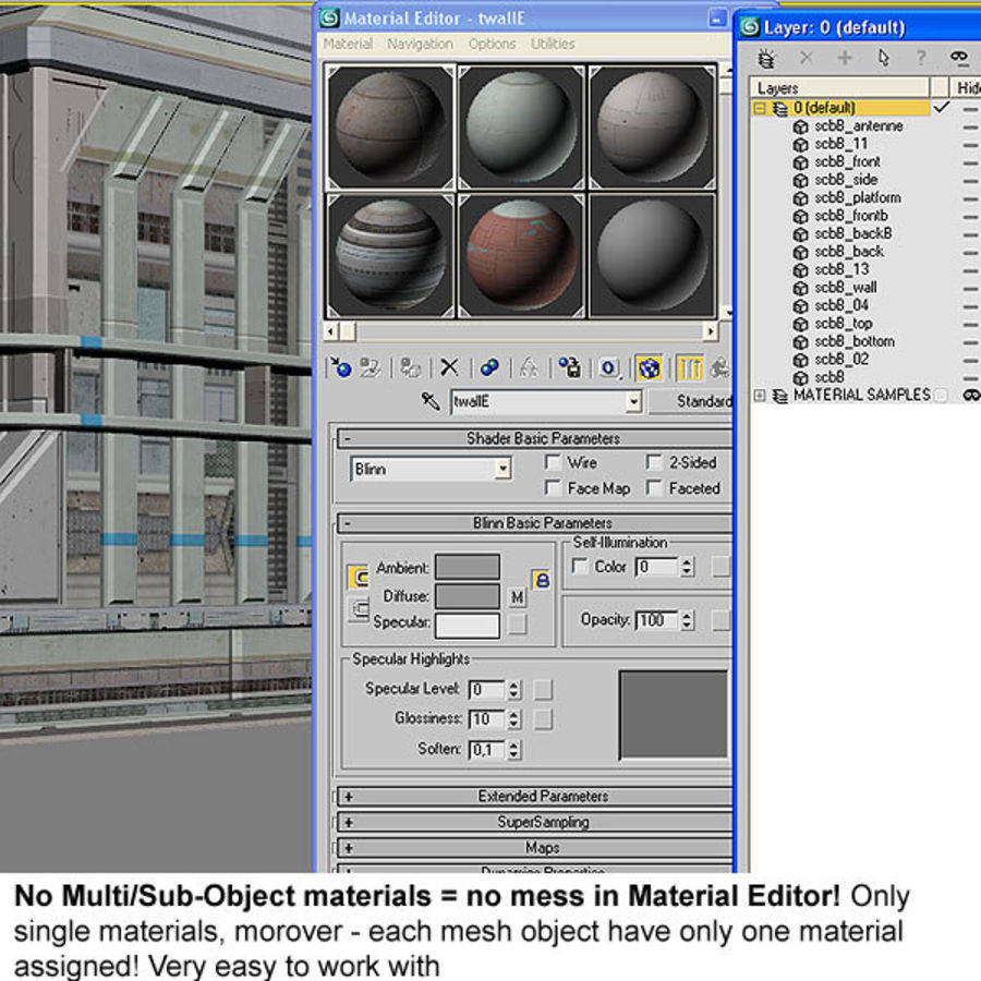 Sci Fi Building Futuristic royalty-free 3d model - Preview no. 12