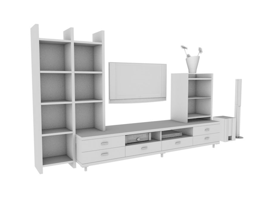 TV Stand royalty-free 3d model - Preview no. 1