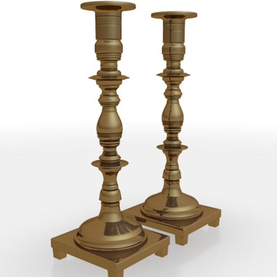 candle stick holders royalty-free 3d model - Preview no. 2