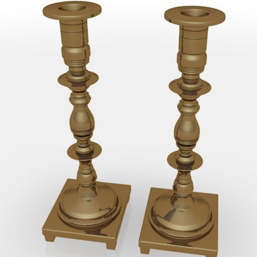 candle stick holders royalty-free 3d model - Preview no. 1