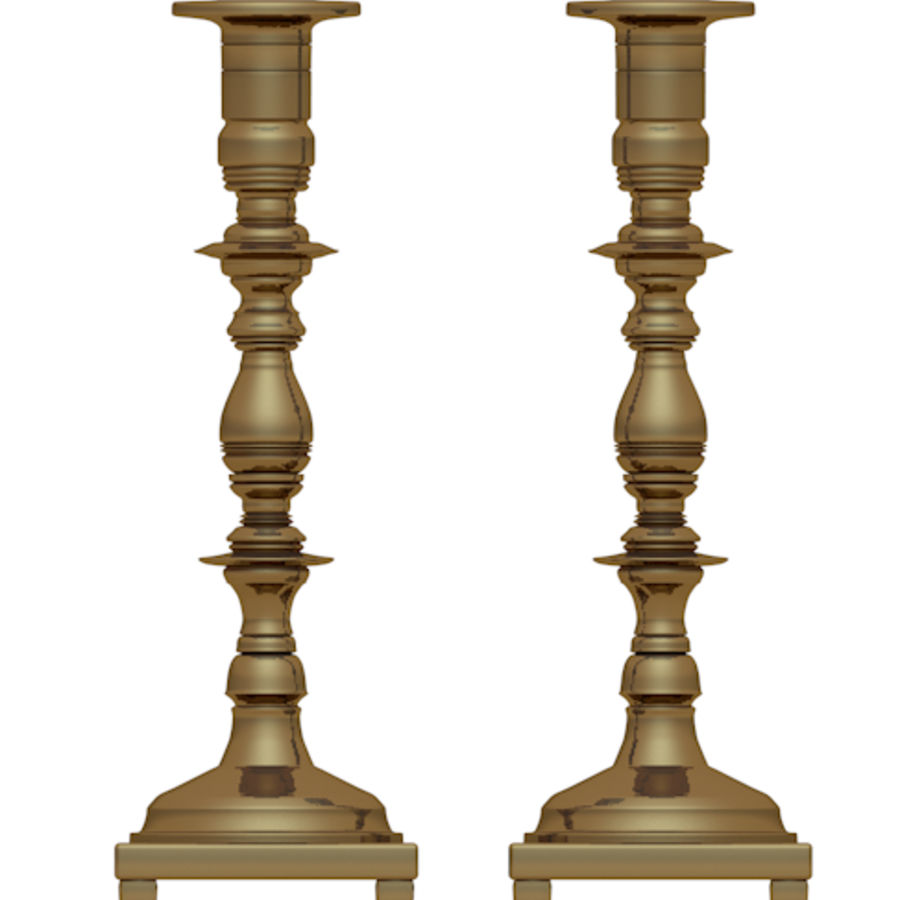 candle stick holders royalty-free 3d model - Preview no. 4
