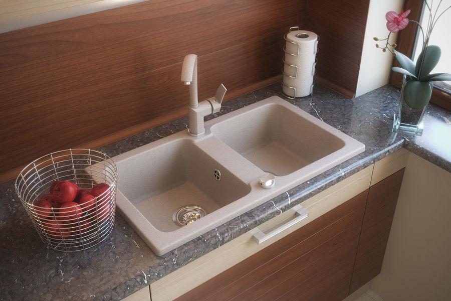 Sink Tap Modell : Sink with tap d model max obj fbx free