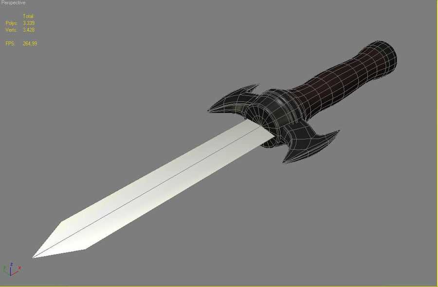 knife royalty-free 3d model - Preview no. 4