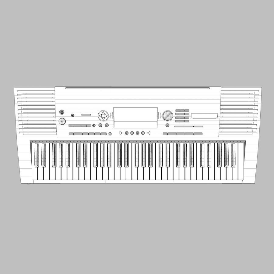 Клавиатура: Yamaha PSR 420: максимальный формат royalty-free 3d model - Preview no. 16