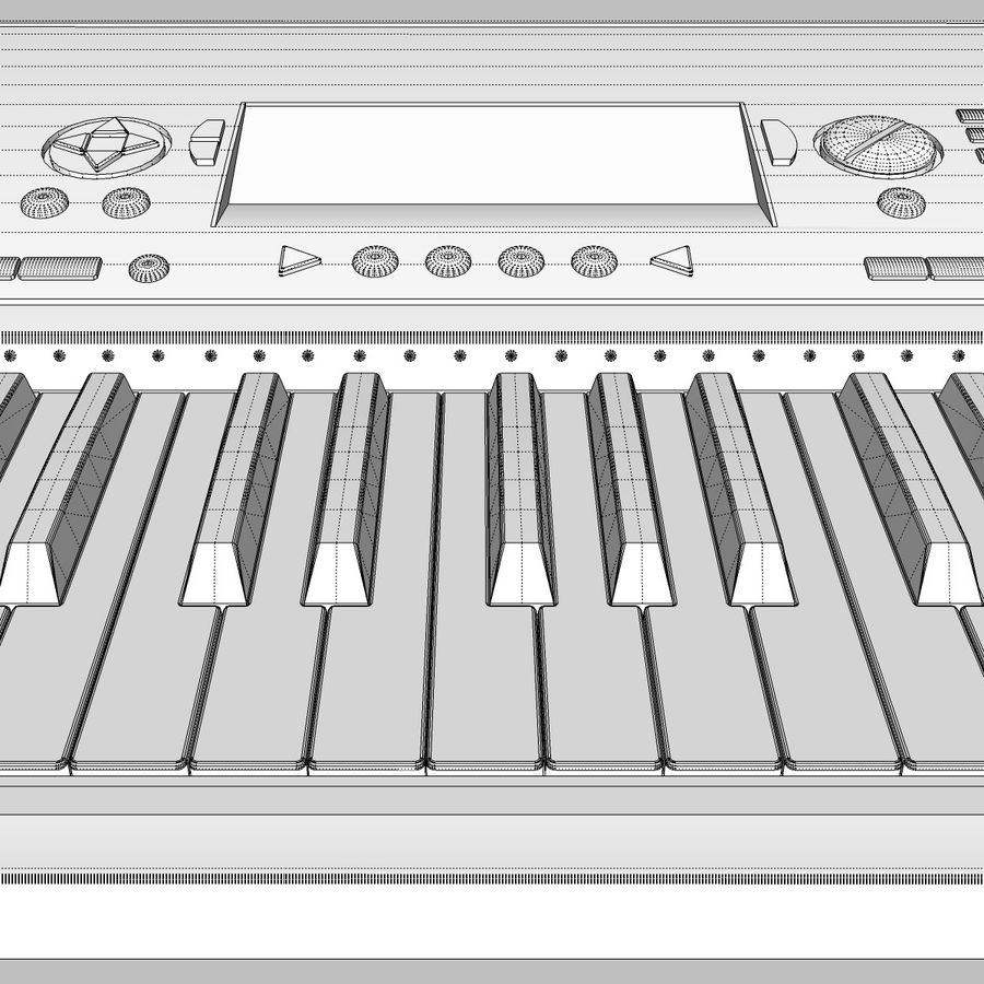 Клавиатура: Yamaha PSR 420: максимальный формат royalty-free 3d model - Preview no. 25