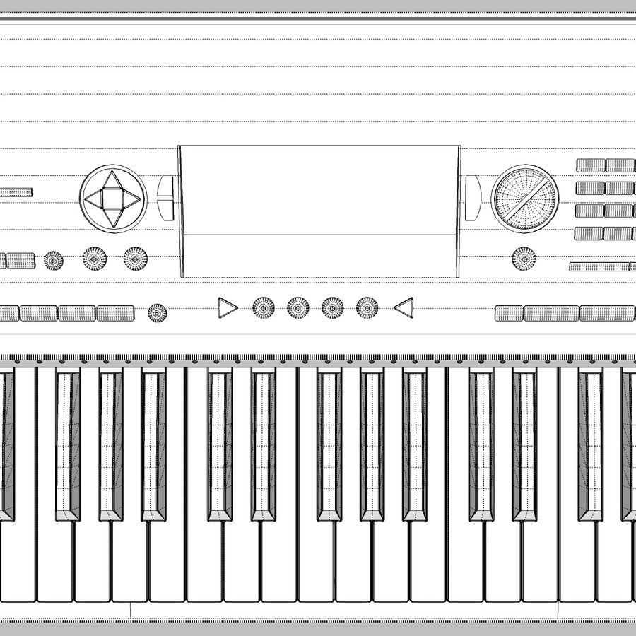 Клавиатура: Yamaha PSR 420: максимальный формат royalty-free 3d model - Preview no. 21