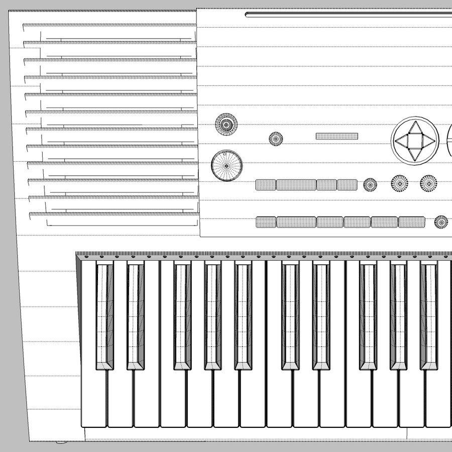 Клавиатура: Yamaha PSR 420: максимальный формат royalty-free 3d model - Preview no. 20