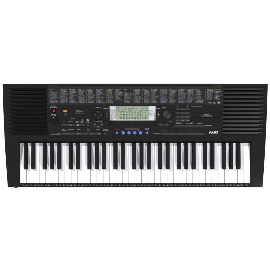 Клавиатура: Yamaha PSR 420: максимальный формат royalty-free 3d model - Preview no. 2