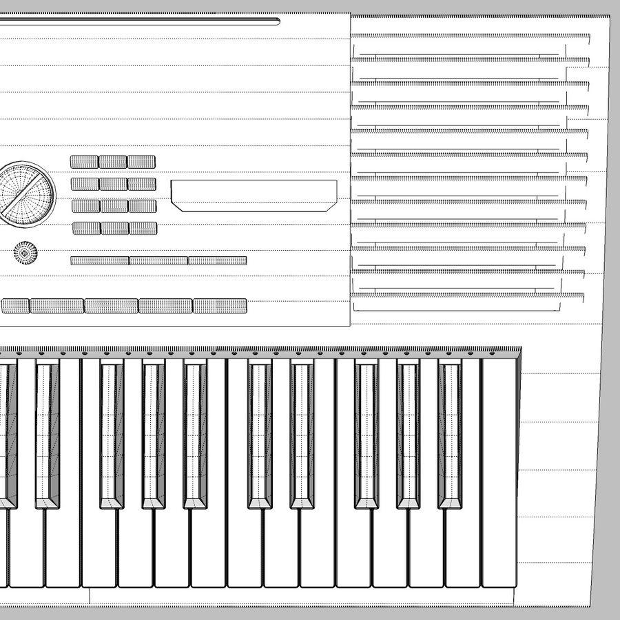 Клавиатура: Yamaha PSR 420: максимальный формат royalty-free 3d model - Preview no. 22