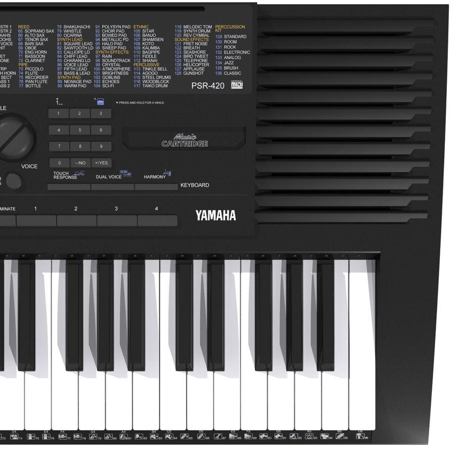 Клавиатура: Yamaha PSR 420: максимальный формат royalty-free 3d model - Preview no. 11