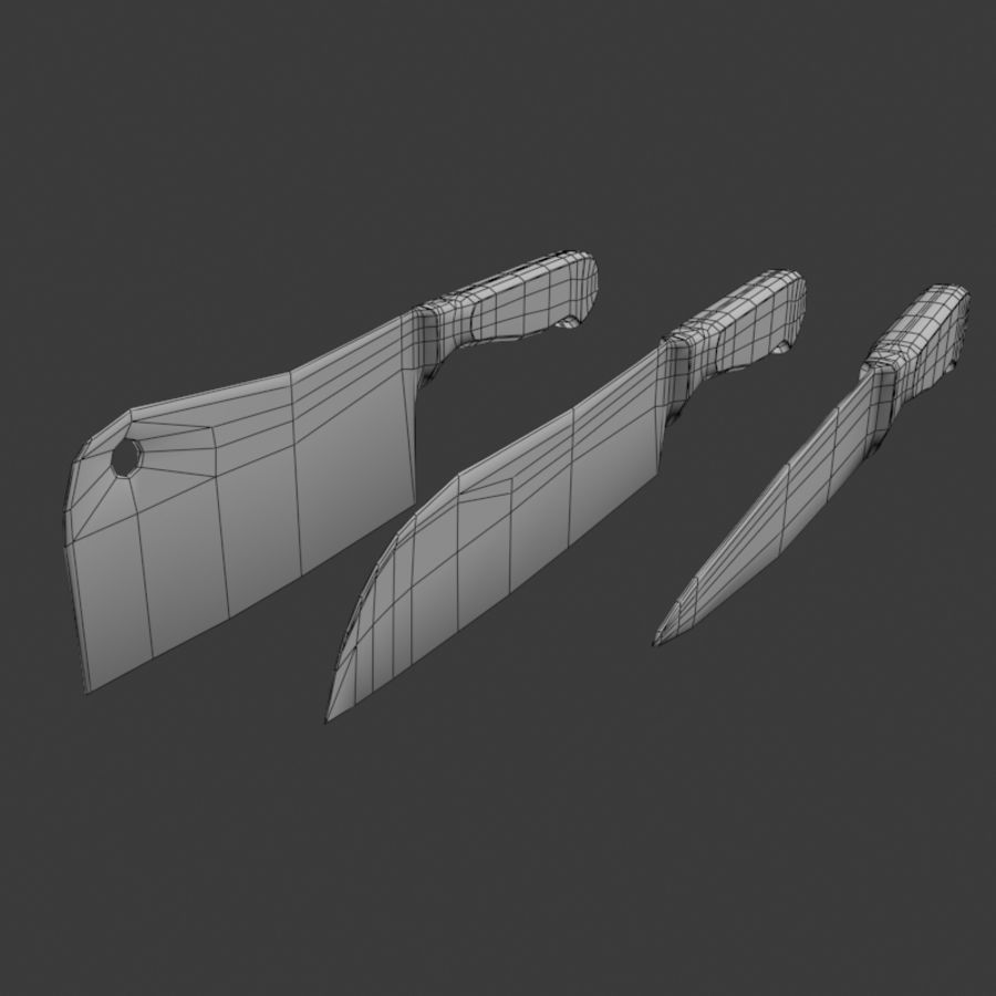 Knife royalty-free 3d model - Preview no. 5